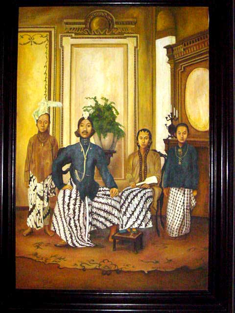 Antique Javanese Painting Discover Bali Indonesia Photo