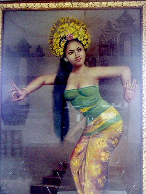 Antique Javanese Painting (Discover Bali Indonesia Photo